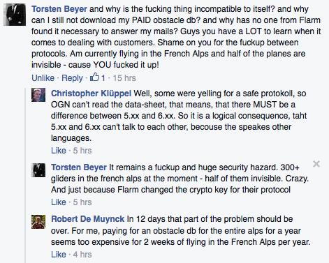 Op de Facebook pagina van Flarm wordt de werkwijze bekritiseert. Veiliger is het er in ieder geval niet van geworden.
