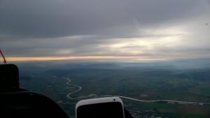 Uitzicht op 1200mtr
